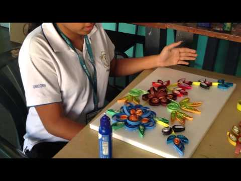 3D paper quilling camp at DPS Surat