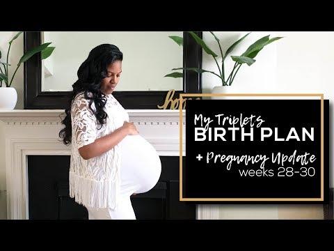 Triplets BIRTH PLAN + Pregnancy Update 28 - 30 weeks