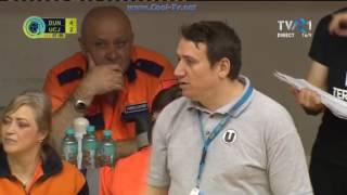 HC Dunărea Brăila - U Cluj. Prima repriză