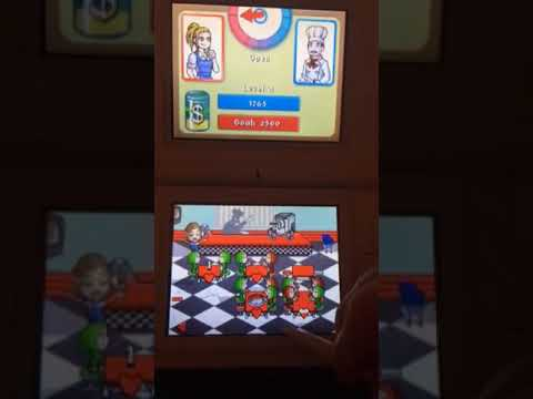 Playing Diner Dash Sizzle And Serve On The Nintendo DS