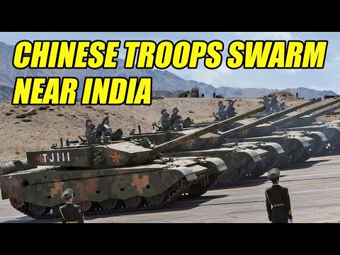 Chinese Troops Mass on Disputed Border with India