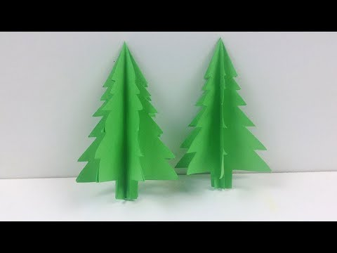 How to Make a 3D Paper Xmas Tree 🎄 DIY Tutorial | 3D Paper Christmas Tree 🎄 Easy Paper Tree