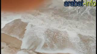 27.02.2018 Азовское море  на Арабатской стрелке  во время шторма