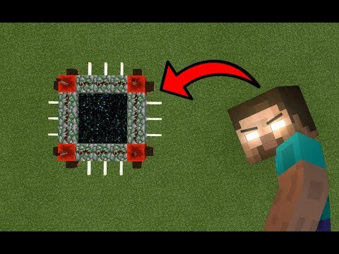 Thumbnail: How To Make a Portal to the Herobrine Dimension in MCPE (Minecraft PE)