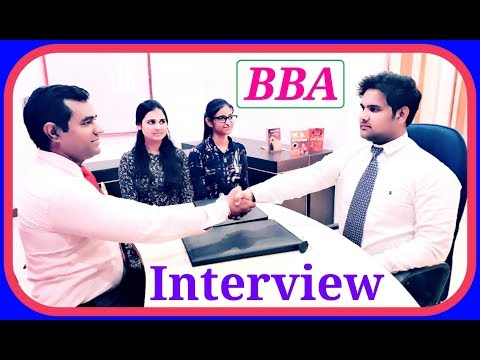 BBA interview questions and answers : B.B.A.