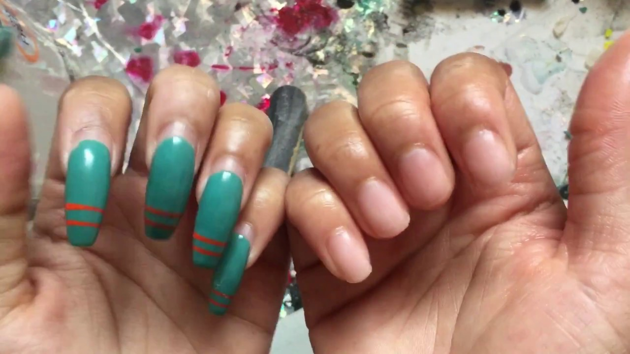 How To Properly Remove Your Acrylic Nails At Home No Damage Keep Your Length Youtube