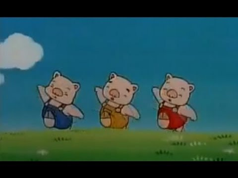 三隻小豬 three little pigs chinese mandarin cartoon