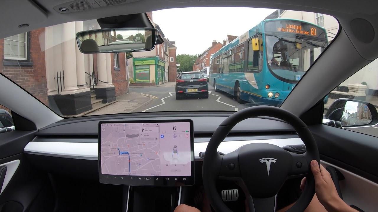 First Model 3 UK HW3 Test! - Tesla Autopilot in a UK City #17 Lichfield
