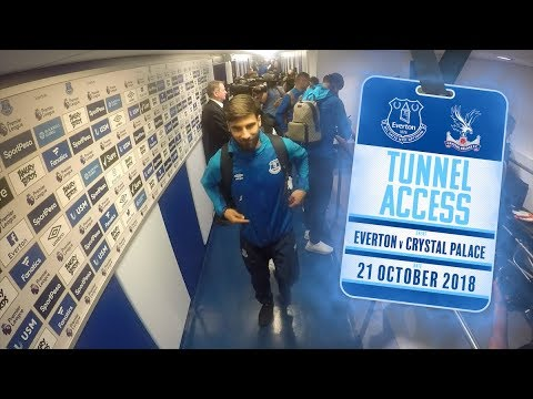 TUNNEL ACCESS! | EVERTON V CRYSTAL PALACE: ANDRE GOMES DEBUT, DCL & TOSUN NET!