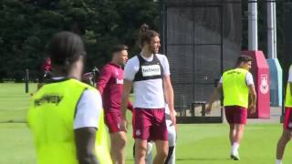 Andy Carrol Reproduces His Swansea Worldy At West Ham Training
