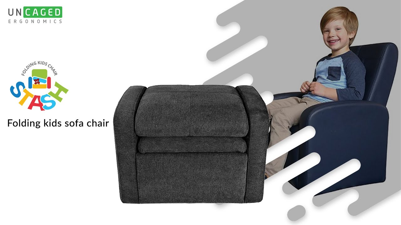 Stash Folding Kids Sofa Chair Ottoman With Storage