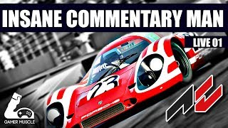 🔴ASSETTO CORSA  - INSANE COMMENTARY MAN 01 - RACING SUBS