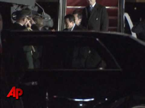 Raw Video: Japan's PM Arrives for Obama Meeting