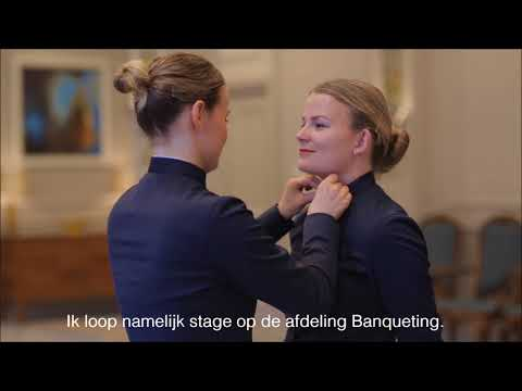 Business School Notenboom student Rowanne loopt stage bij Waldorf Astoria Amsterdam