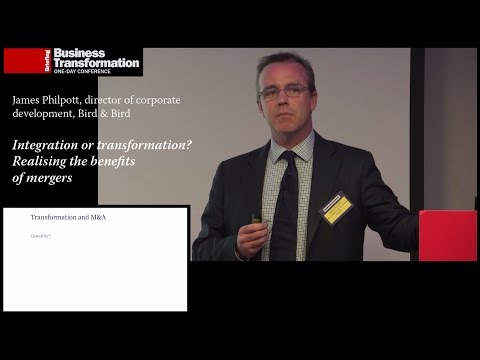 The expected benefits of mergers: James Philpott, Bird & Bird at Business Transformation 2015