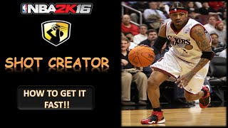 how to get the shot creator badge after patch 6 fast and easy in nba 2k16