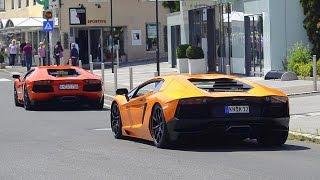 Lamborghini Aventador Invasion in Velden! - 7 of them