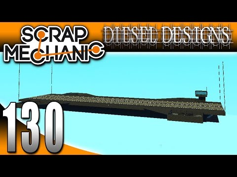 Scrap Mechanic Gameplay :EP130: FAN CREATIONS: Hover Carrier, Apache Helicopter, and MORE! (HD)