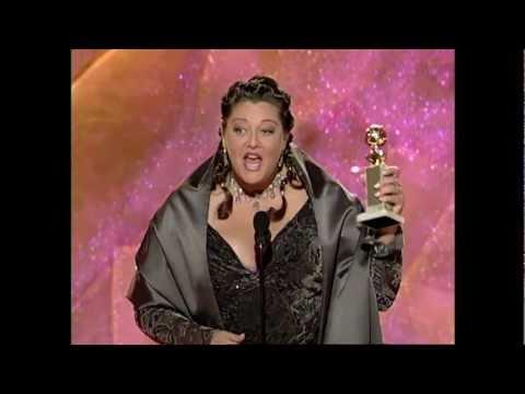 Camryn Manheim Wins Best Supporting Actress TV Series  Golden Globes 1999