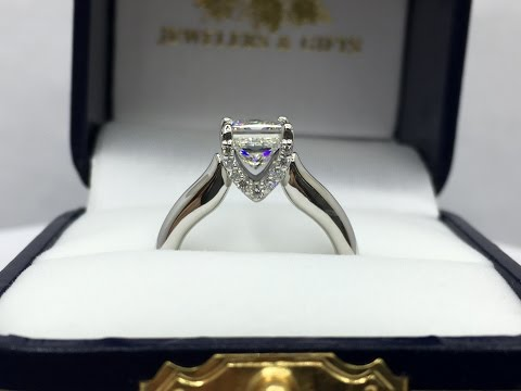 Custom 1.5 carat Princess Cut Diamond Ring