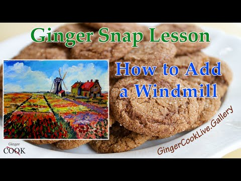 Adding a Building  – A Ginger Snap Painting  Lesson Tips and Tricks