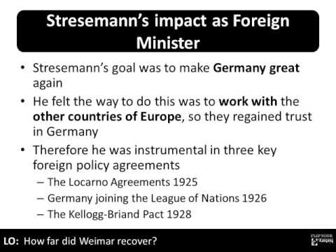 4   Recovery under Stresemann