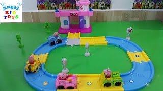 Đồ chơi Peppa Pig Xe Tàu Lửa Xinh Đẹp Train Station Parking Lot