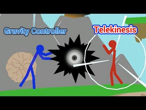 Stick Nodes Animation - Gravity Controller vs Telekinesis fighting