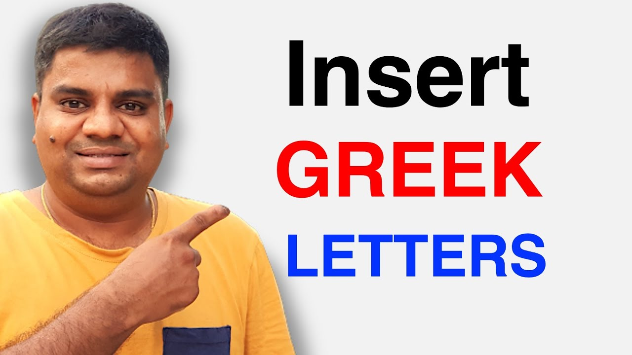 How to Insert Greek Letters in Google Sheets or Google Docs