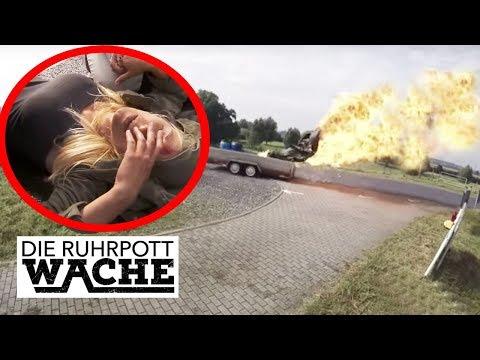 Unfall mit Transporter: hochgradig giftige Chemikalie luft aus!   Die Ruhrpottwache   SAT.1 TV
