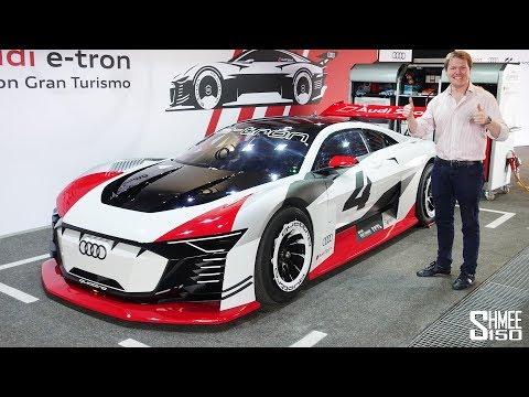 Audi e-tron Vision Gran Turismo - FIRST EVER REAL CAR DRIVE!