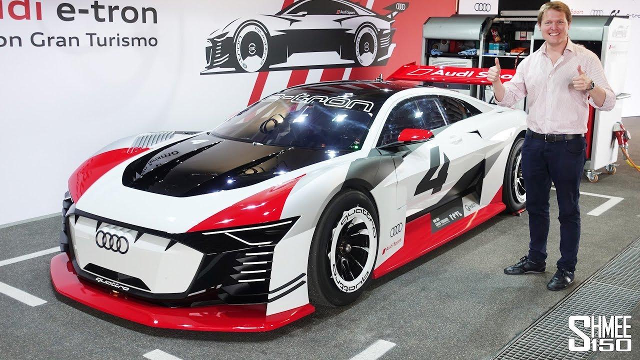 audi e-tron vision gran turismo - first ever real car drive! - youtube