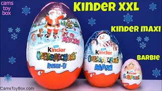 Kinder XXL and MAXI Barbie Chocolate Surprise Eggs Winx Christmas Toys Opening