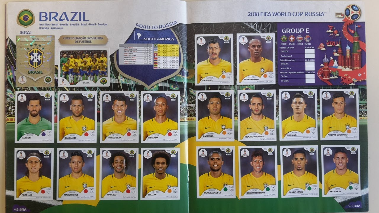 99% Complete 2018 Panini World Cup Russia Stickers Collection  Full 682  stickers version! 75bd772de31a