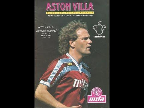 Aston Villa 2 Oxford Utd 2 - Milk Cup Semi Final 1st Leg - 12th Feb 1986