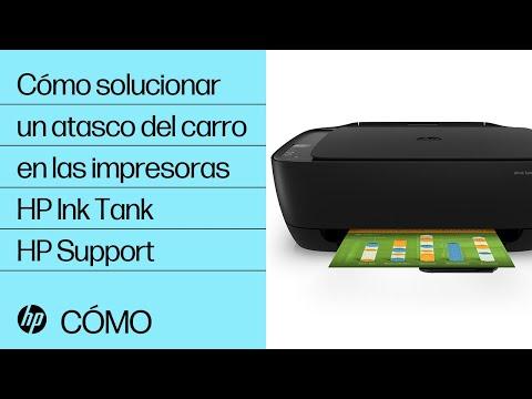 Cómo solucionar un atasco del carro en las impresoras HP Ink Tank | HP Ink Tank | @HPSupport