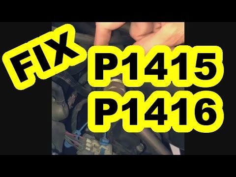How To Fix P1415 Amp P1416 Check Engine Codes On Gmc Truck