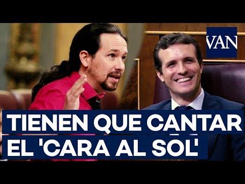 El 'zasca' de Pablo Iglesias a Pablo Casado