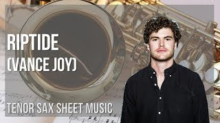 EASY Tenor Sax Sheet Music: How to play Riptide by Vance Joy