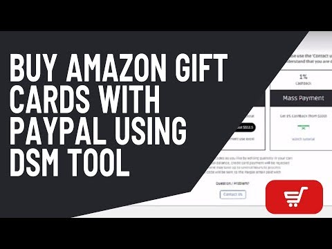Buy Amazon Gift Card With Paypal Using DSM Tool