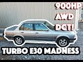 INSANE 900hp BMW M50 Turbo E30 with AWD and 7spd dual clutch transmission (DCT) conversion!