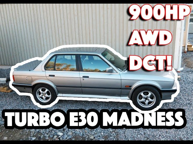 INSANE 900HP BMW E30 TURBO with DCT and AWD - Turbo and Stance