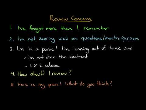 Thoughts about Reviewing for your CFA exam