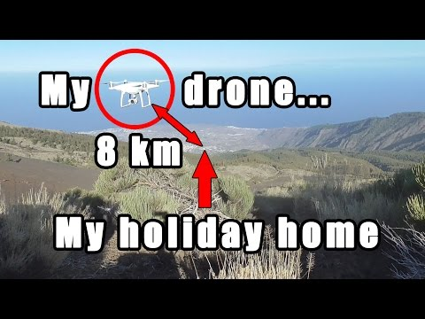 CHALLENGE: can I fly my drone 8 km to my holiday house and land it on the terrace?
