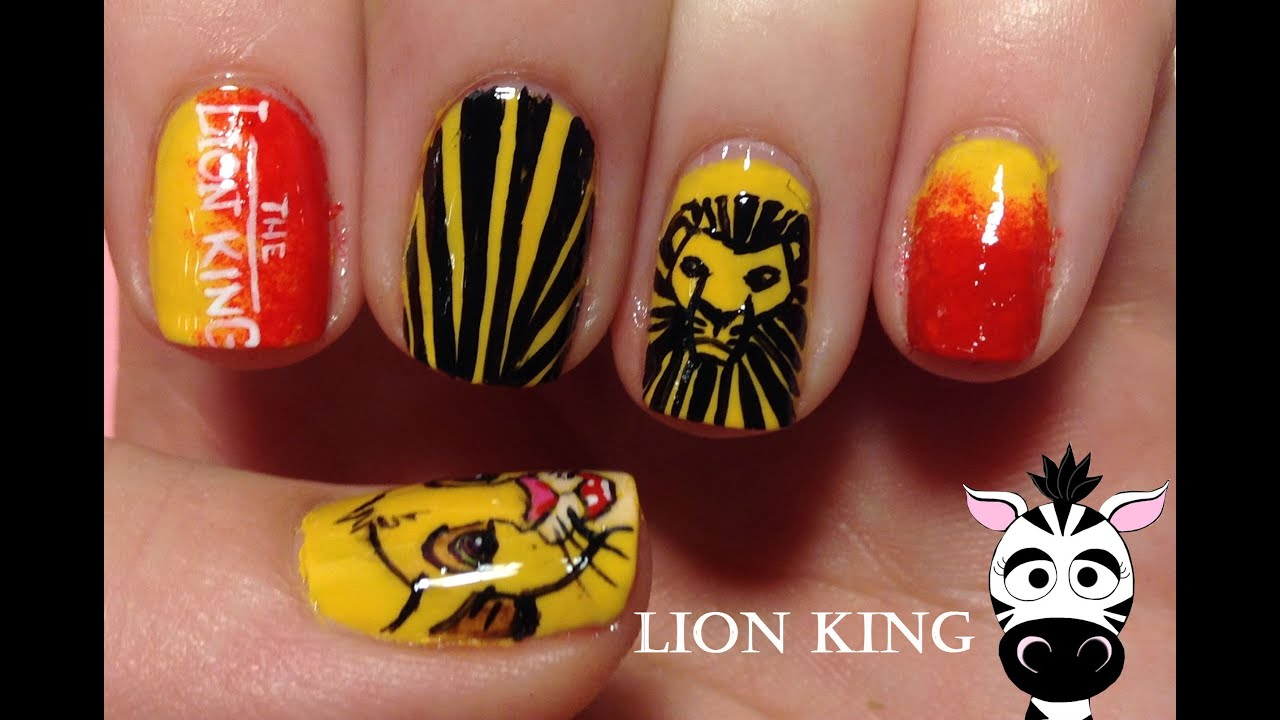 Lion King Nail Art Tutorial (REQEUST) - YouTube
