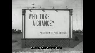 1950s ART GILMORE  GENERAL TIRE AUTO ACCIDENT SCARE FILM 75994