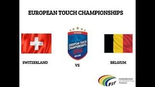 European touchrugby championships Switzerland vs Belgium (mens 40) (reupload)