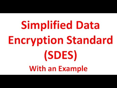 5. Simplified Data Encryption Standard (SDES) | Simplified DES | With an Example