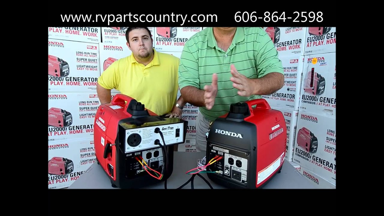 Honda EU2000i Generator Demonstration On Eu2000 Parallel Kit At RV Parts Country