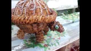 Черепаха своими руками из газетных трубочек